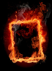 Photo sur Plexiglas Flamme Fire frame
