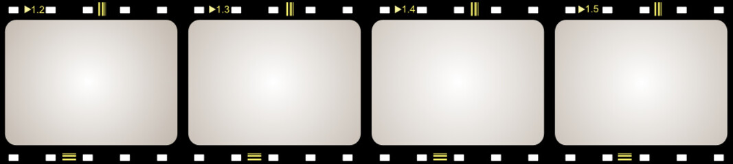 Film frame with space for your text or image