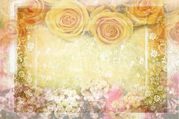 vintage canvas background floral