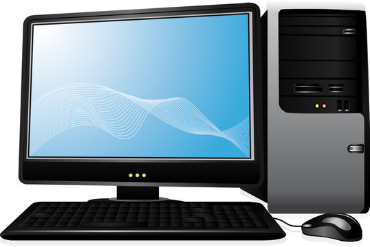 Personal computer vector and isolated