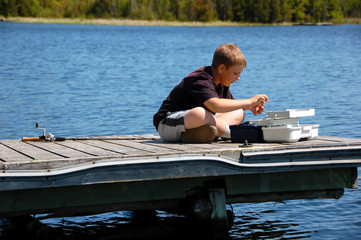 Young Child Fishing