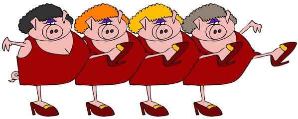 Pig Chorus Line