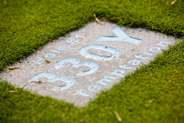 Plate on the golf course
