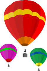 Vector illustratioon of hot air balloon