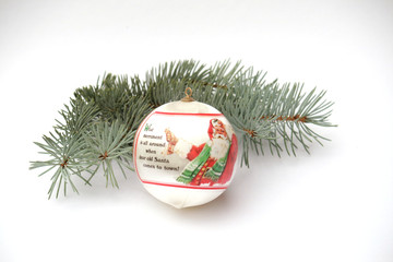 Ball with Santa Clause as Christmas decoration