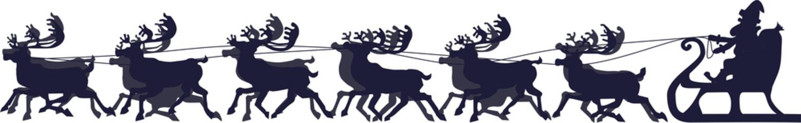 Rentierschlitten mit Weihnachtsmann