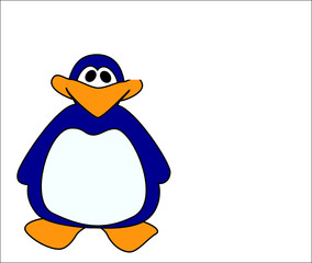 penguin on a white background