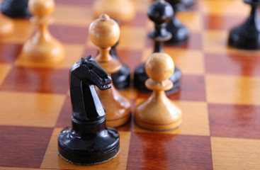 figure on chess board