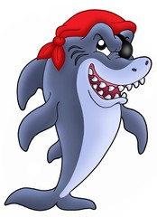 Foto op Plexiglas Piraten Pirate shark