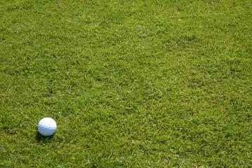 Golfball auf Fairway