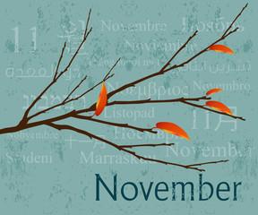 Months Concept November