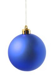 Blue christmas decoration ball