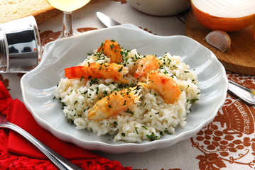 Risotto con gli scampi - Primi - Cucina della Slovenia