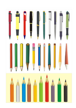 big vector collection of writing tools