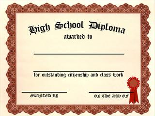 Customizable High School Diploma