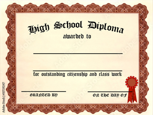 High School Diploma Certificate Template