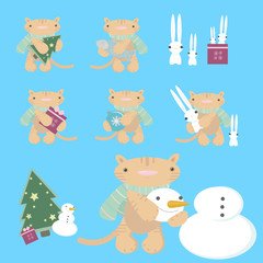 cartoon cats - vector