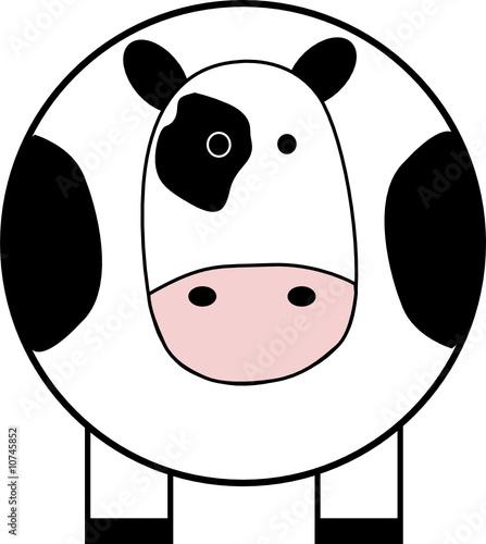 Vache 1 fichier vectoriel libre de droits sur la banque d 39 images image 10745852 - Vache dessin facile ...