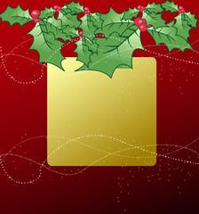 abstract christmas banner design