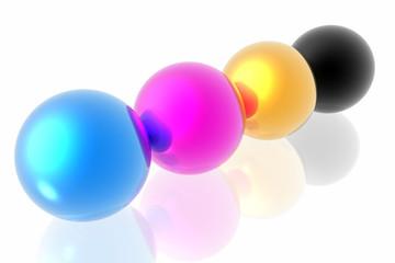 CMYK spheres