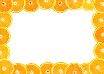 frame of fresh orange fruit