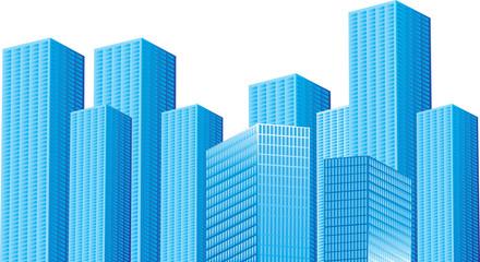 Background Blue Buildings