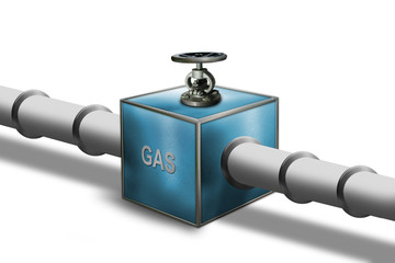 Gas pipeline with control valve