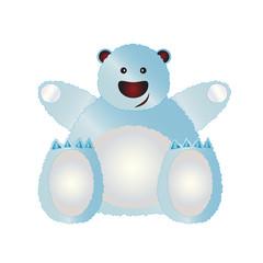 Illustrated polar bear