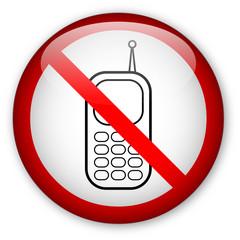 """""""No cellphones"""" sign"""