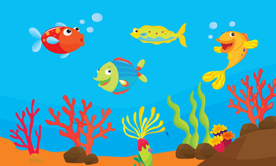 reef fish illustration