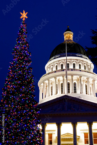 capitol christmas tree in sacramento california