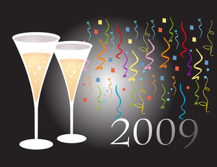 Champagne glasses 2009