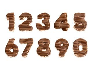 Zahlen aus Schokolade