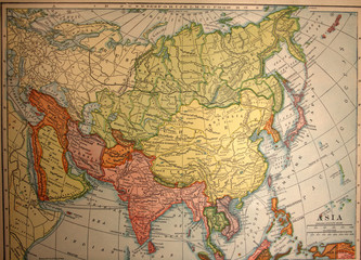 map,asia,india,middle east,vintage,old