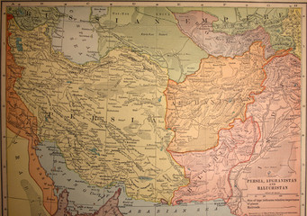 map,antique,vintage,middle,east,persia