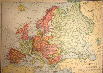 map,antique,vintage,europe,old