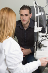 Patient listening diagnose after medical attendance