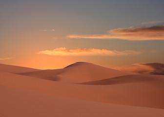 aube sur le désert du maroc