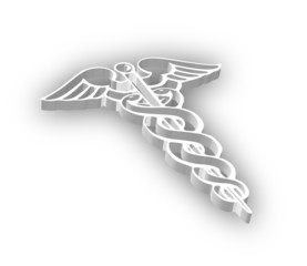 3D Caduceus Symbol