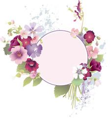 Grunge floral frames