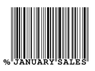 """January Sales"" barcode"