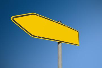 Straßenschild blanko