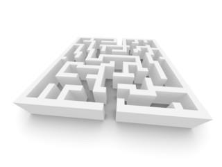 Labyrinth illustration. 3d rendered image.