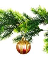 Christmas decoration isolated on the white background