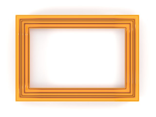 Orange plastic frame