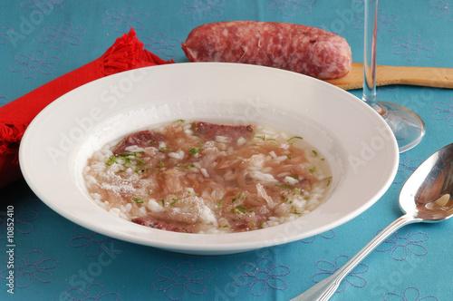 Minestra i risi e luganighe - Primi piatti - Cucina del ...