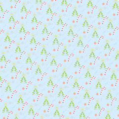 New Year or Christmas back ground with fir-trees