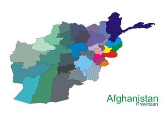 Afghanistan mit Provinzen