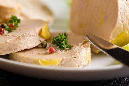 Assiette de foie gras du périgord