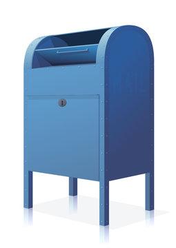 Opened Blue Mailbox